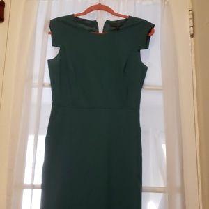 J crew green resume dress